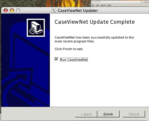 CaseViewNet on Wine Updater: Update Complete