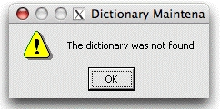 No Dictionaries for You!