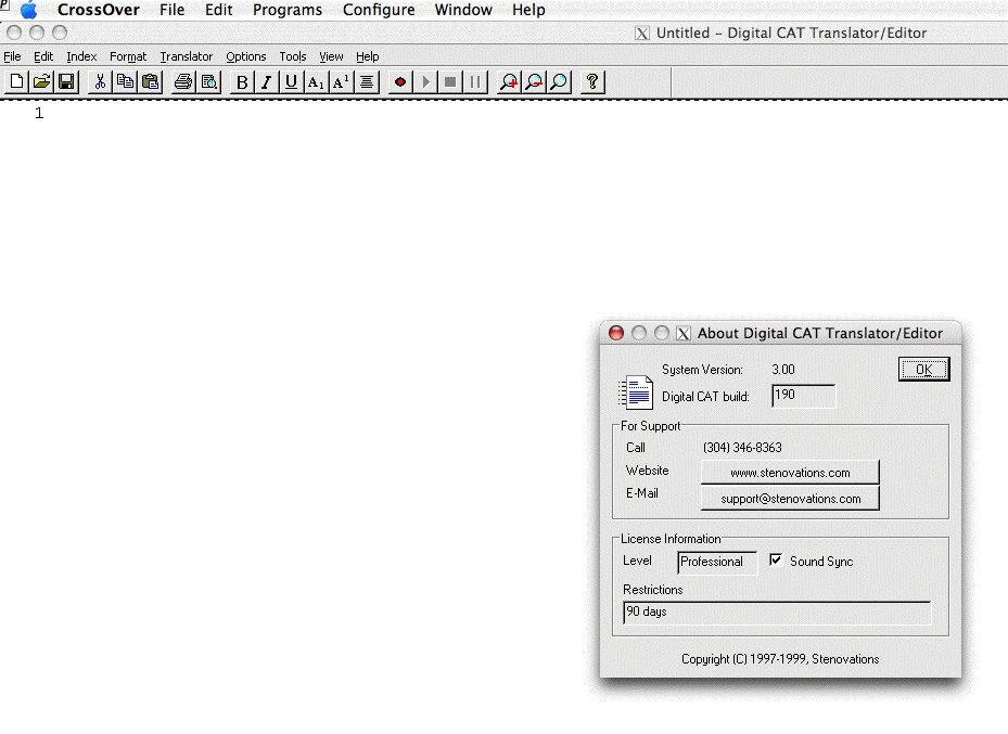 DigitalCAT Transcription Editor (Build 190):  Success!