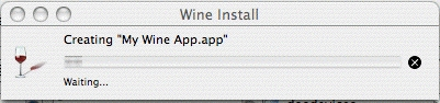 Wine Custom Install Progress
